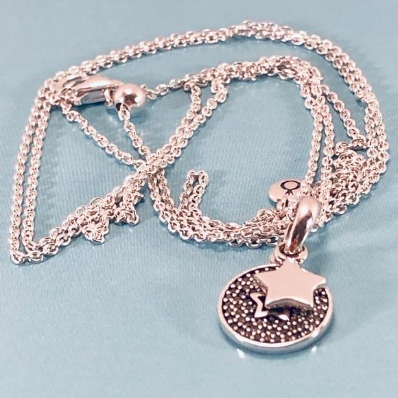 8676b02320e65 Pandora Celebration Stars Necklace